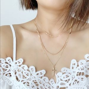 CHICBOMB Jewelry - Dainty Layered Cross Necklace